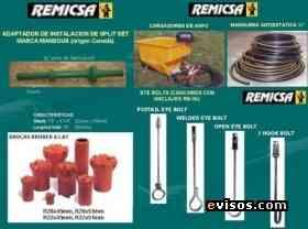 Fotos de cartuchos de resina,barretilla de aluminio,cargador de anfo,manguera antiestatica,perno de anclaje