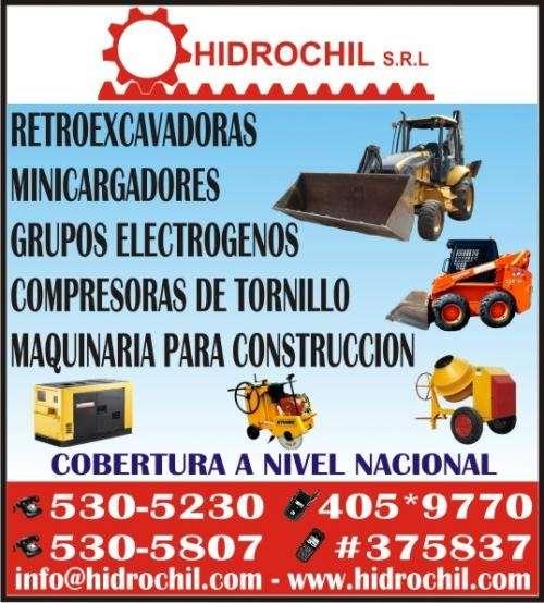 Alquiler de cargador frontal, retroexcavadora, minicargador y maquinarias en general