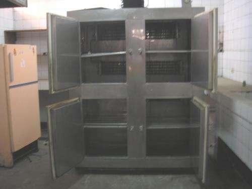 Refrigeradora y congeladora industrial demetal 4 puertas