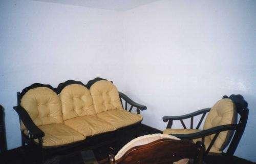 Vendo juego de sala de madera en lima, perú   muebles