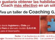 Taller de Coaching G.R.O.W. en Perú