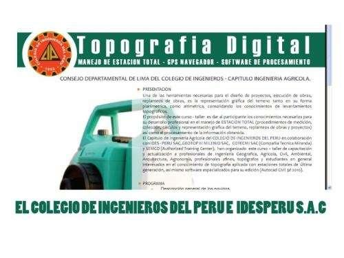 Curso de topografia digital, manejo de estacion total