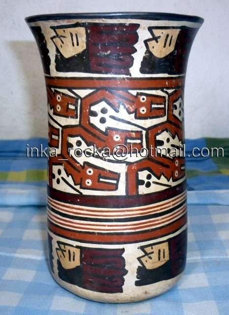 Vendo, huacos, vasos, vajillas, tijeras, picos, punta de lanzas de piedra volcánica, telares, textiles, cabezas de trofeo, momias, peines, huaracas, quipus, instrumentos musicales de la cultura