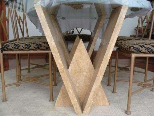Fotos de comedor con bases de marmol y mesas de sala en - Mesas de marmol de comedor ...