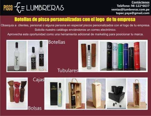 Botellas de pisco presentaciones personalizadas