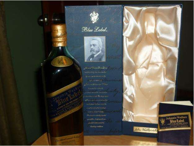 Venta de whisky johnny walker etiqueta azul