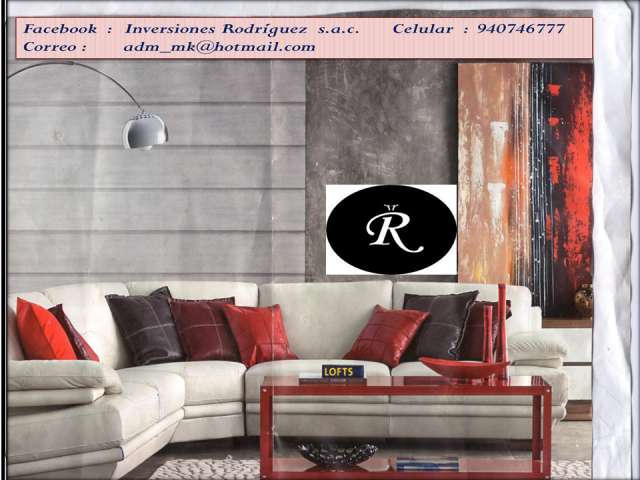 Muebles de sala elegantes confortables y lineales en lima, perú ...