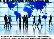 CONSULTORES en Formulación y Evaluación de Proyectos de Inversión Pública en el marco del SNIP, Capacitacion y Asistencia Tecnica,  Gestión y Desarrollo Empresarial de las MYPES
