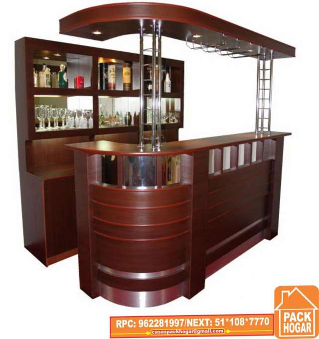 Mueble caja restaurante 20170824054607 for Barras de bar rusticas para jardin