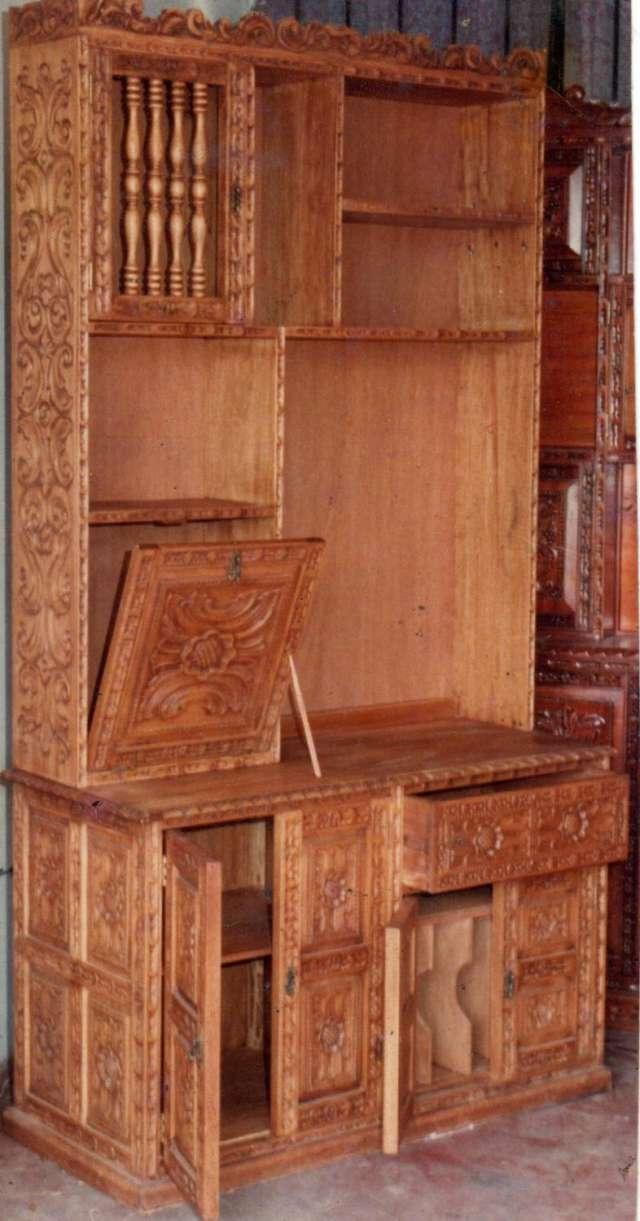 Especialista en estantes bares tallados clasicos en madera en lima ...