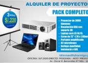 """Alquiler de proyector multimedia +ecran72"""", usado segunda mano  Lima"""