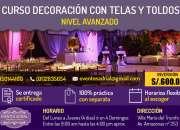 CURSO DECORACIÓN CON TELAS Y TOLDOS PARA EVENTOS - NIVEL AVANZADO