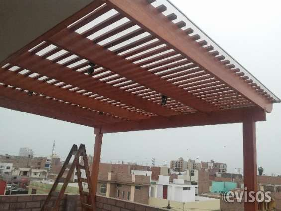 De madera para terrazas tipos de prgolas para terraza o for Techos de terrazas