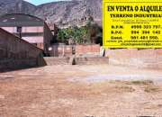 ALQUILER DE DEPÓSITO / LOCAL/ INDUSTRIAL  - Distrito y Provincia  LIMA
