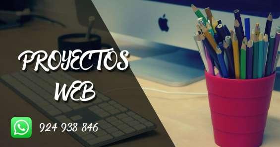 Proyectos web (paginas web , aplicaciones web)