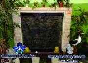 Jardín vertical y muro llorón, panel de burbujas, velo de agua, piletas