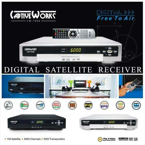 Receptor satelital captive works