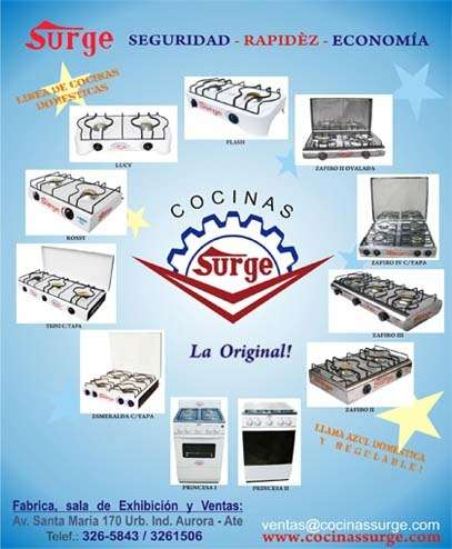 Fabrica de cocinas surge originales! 3265843 lima - peru - www.cocinassurge.com