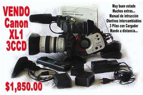 Vendo video camara profesional canon xl1 3ccd mini dv