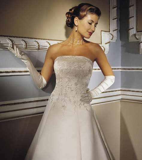 vestido de novia del diseñador demetrio´s bridal collection 2008 en
