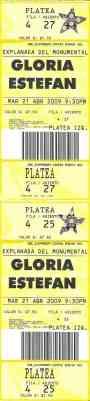 2 Entradas al Concierto de Gloria Estefan