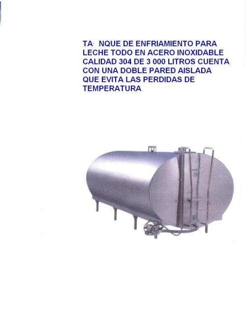 Vendo tanque de enfriamiento en acero inoxidable