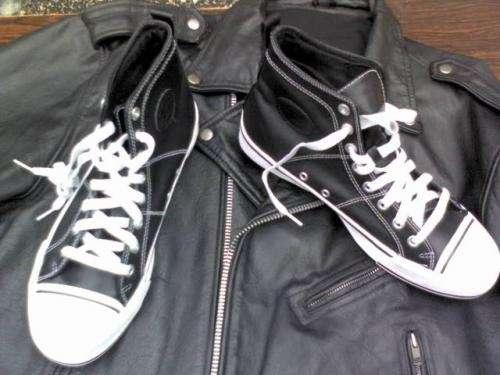 Zapatillas starter - americanas de cuero negro. $120 -$150