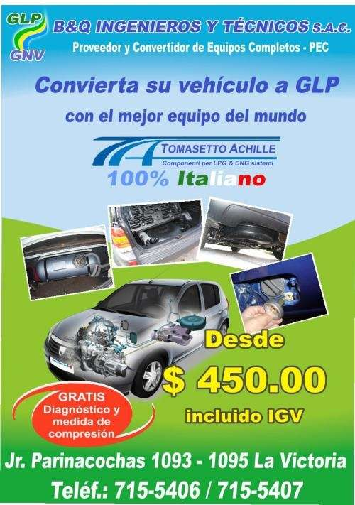 Conversion de vehiculos a glp