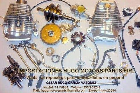 Venta de repuestos y accesorios de motos en general