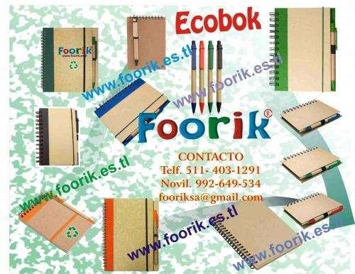 Ecopen, lapicero ecológico, libretas ecológicas, bolsas ecológicas, libretas
