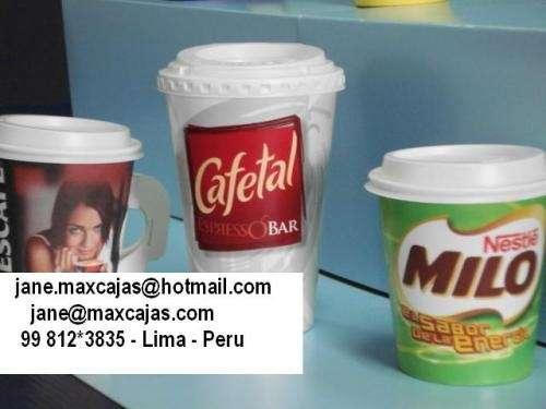 Vasos de carton (polipapel) para bebidas frias y calientes y cajas de carton