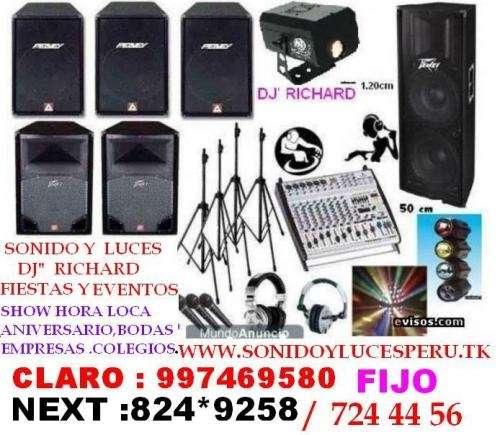 Alquiler sonido profesional dj luces ,shows fiestas y eventos en todo lima