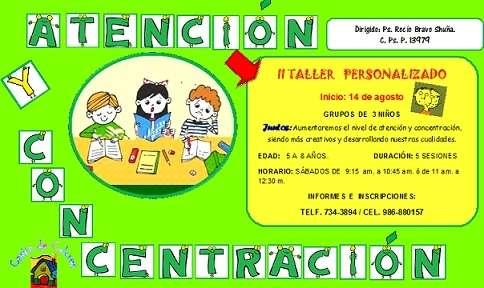 Ii taller personalizado de atención - concentración