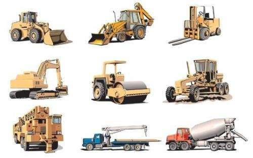 Maquinaria pesada, equipos para construccion