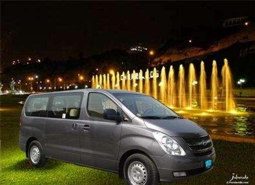 Alquiler van hyundai h1 de 11 pasajeros con chofer turismo gema
