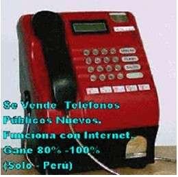 Teléfonos públicos monederos que funciona solo con internet y gane entre 80% y 100%