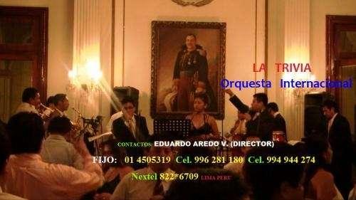 Orquestas para matrimonios orquesta la trivia *orquesta de lima peru*
