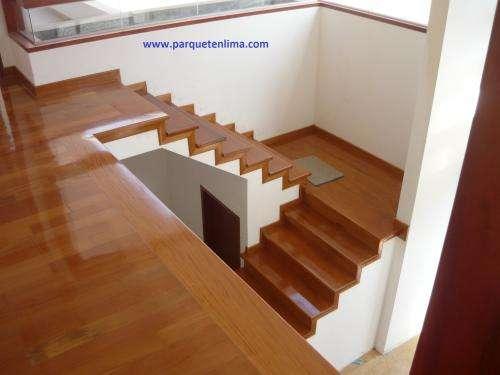 Parquet escaleras zocalos
