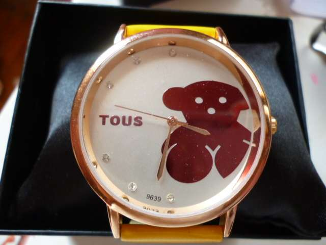 Navidad hermoso reloj oso tipo tous bañado en oro de 18k variados colores