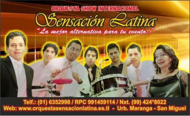 Orquesta digital sensacion latina en lima - rpc: 991459