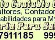Servicio contable - tributario - laboral para mypes (01)7911185  823*3603