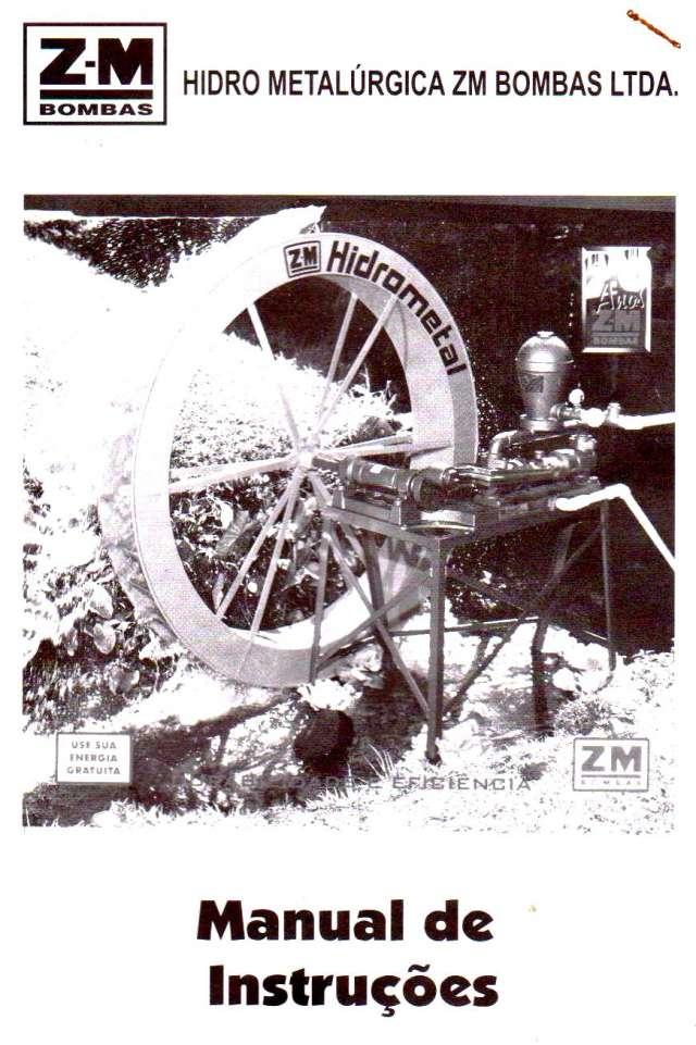 Bomba hidráulica zm 70 con rueda fabricación brasil