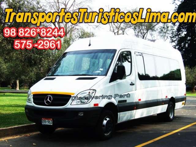 Transporte privado en minibus - transporte en mercedes benz sprinter - alquiler de minibus y camionetas van