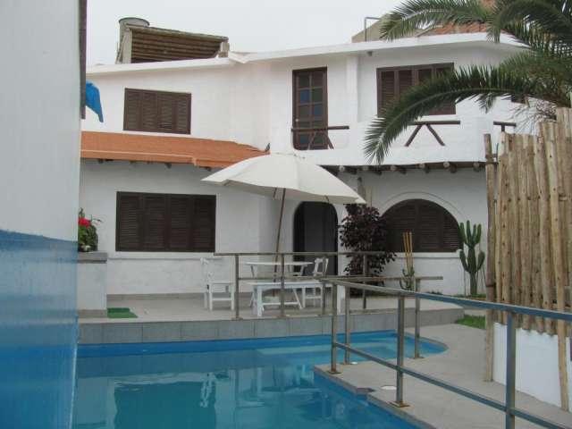 Casa playa pulpos / piscina alquilo km 41 de la carretera antigua panamericana sur