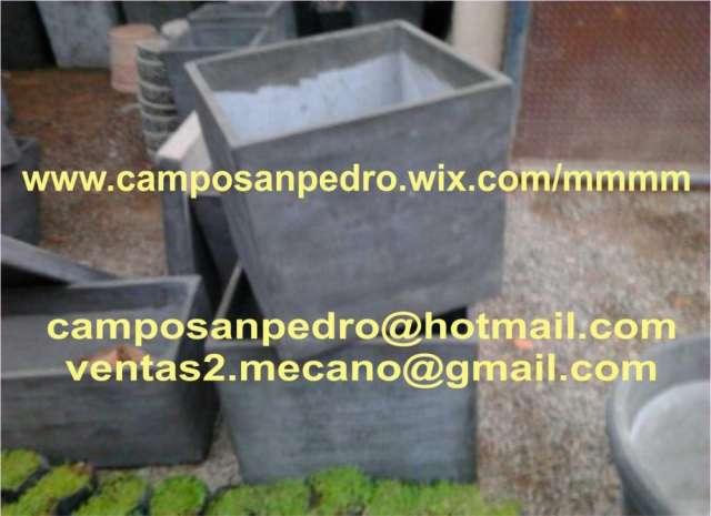 Macetas de cemento a medida decoracion de espacios