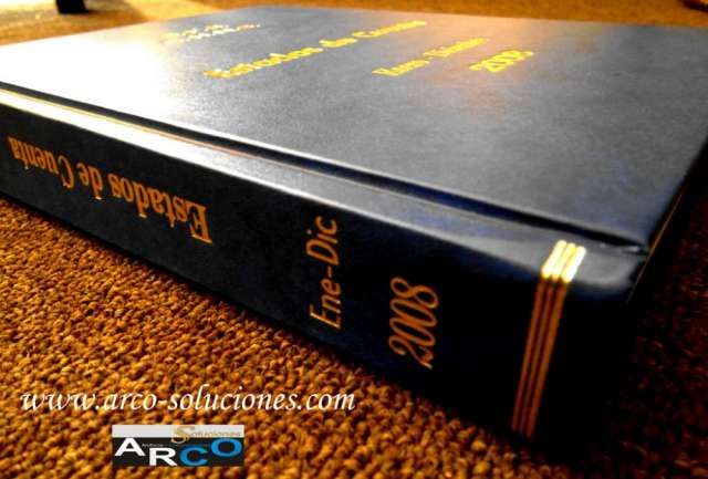 Encuadernación y empastado de libros contables