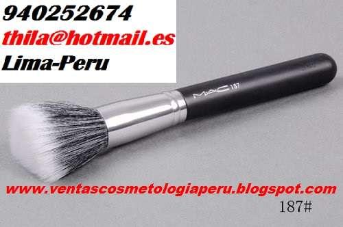 Brocha maquillaje base mac 187 mofeta polvos profesional envios peru