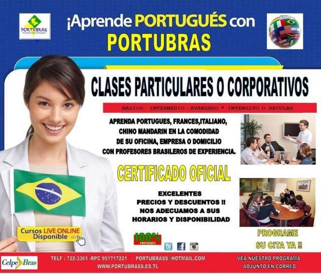 Clases grupales de portugués intensivo en 1 mes -