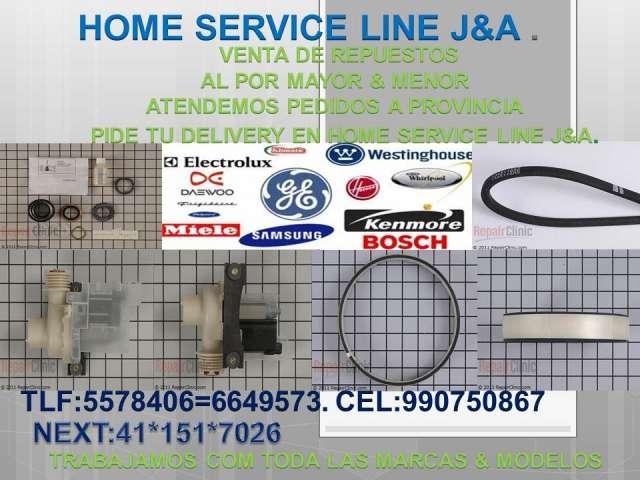 Venta de repuestos & servicio tecnico lavadoras lima