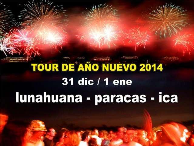 Año nuevo en lunahuana cena + fiesta + camping